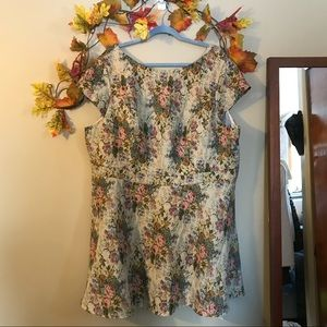 Simply Be | NWT Beige Floral Tapestry Dress Sz 24